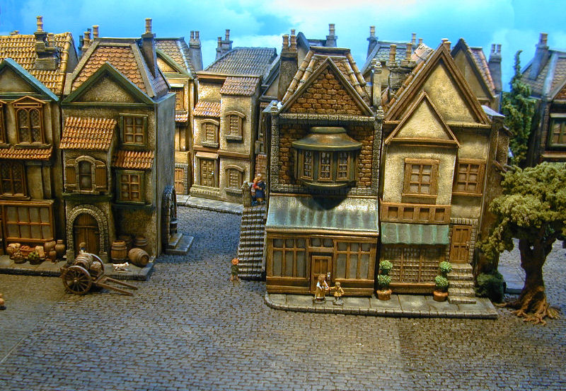 28mm miniature buildings pictures to pin on pinterest for Miniature architecture
