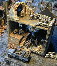 destroyed ww2 miniature buildings