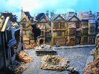 ww2 destroyed miniature buildings