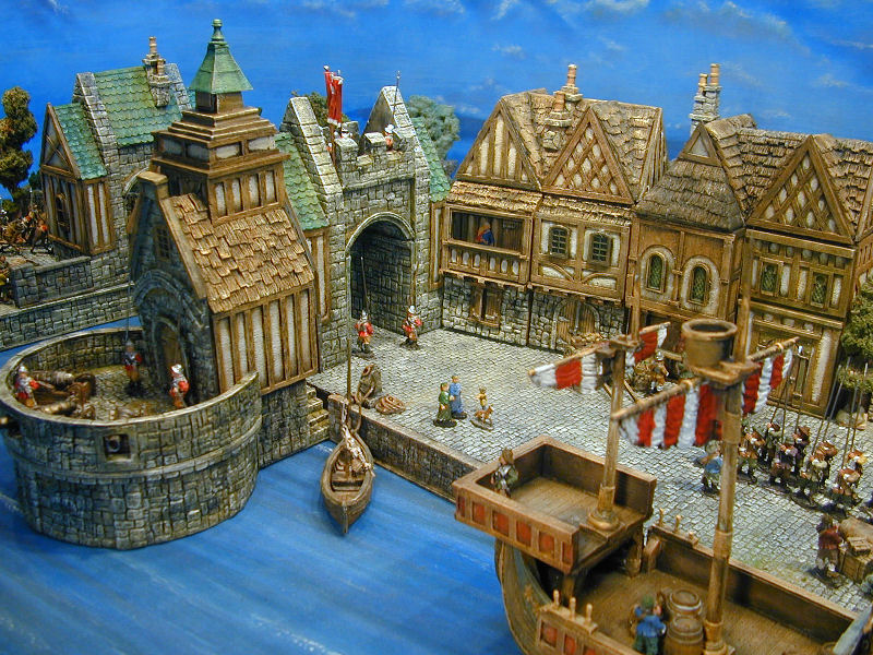 miniature medieval buildings