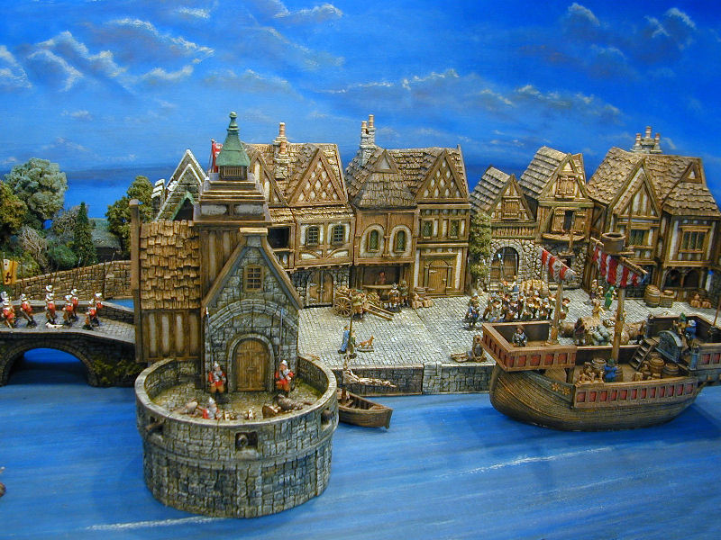miniature medieval buildings and miniature medieval terrain