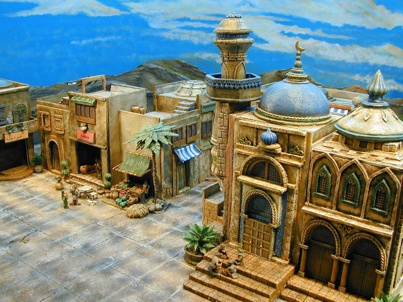 miniature Mid East buildings