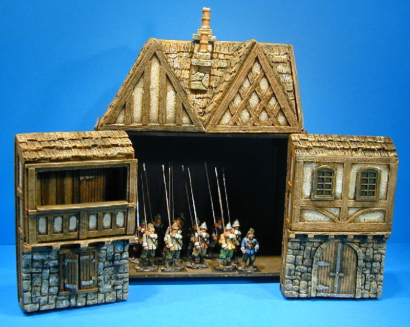 Kobblestone Miniatures wargame buildings, wminiature
